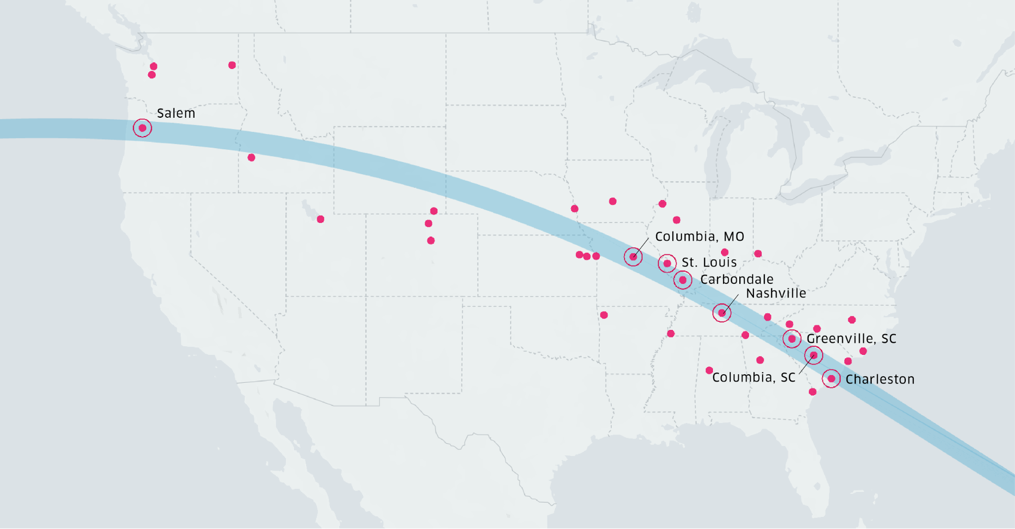 Uber S Ride With The Sun Tracking The 2017 Solar Eclipse