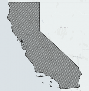 Uncompacted H3 index of California